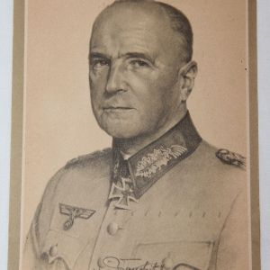 R033. WWII GERMAN POSTCARD OF FIELD MARSHALL VON BRAUCHITSCH