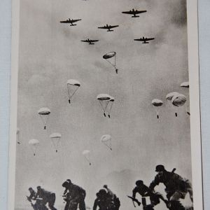 R039. WWII GERMAN POSTCARD FALLSCHIRMJAGER