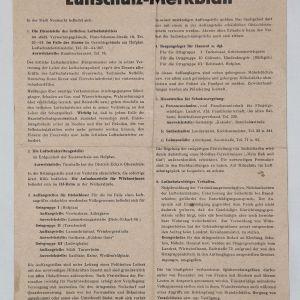 R047. WWII GERMAN LUFTSCHUTZ LEAFLET GIVING AIR RAID INSTRUCTIONS