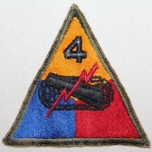 G094. WWII 4TH ARMORED DIVISION PATCH
