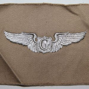 "G097. WWII 3"" CLOTH AAF GLIDER PILOT WINGS"