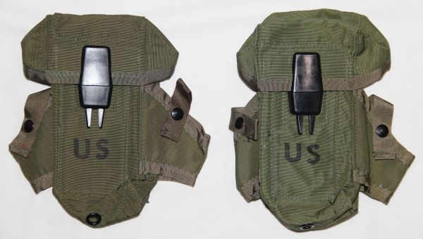 U018. PAIR OF UNISSUED 1974 DATED LC-1 30 ROUND NYLON AMMO POUCHES