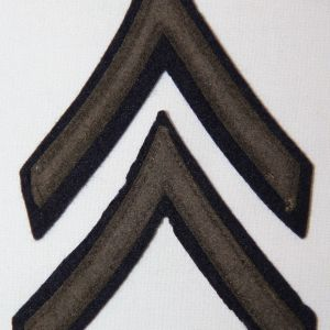 G116. WWII FELT ON FELT PRIVATE FIRST CLASS CHEVRONS