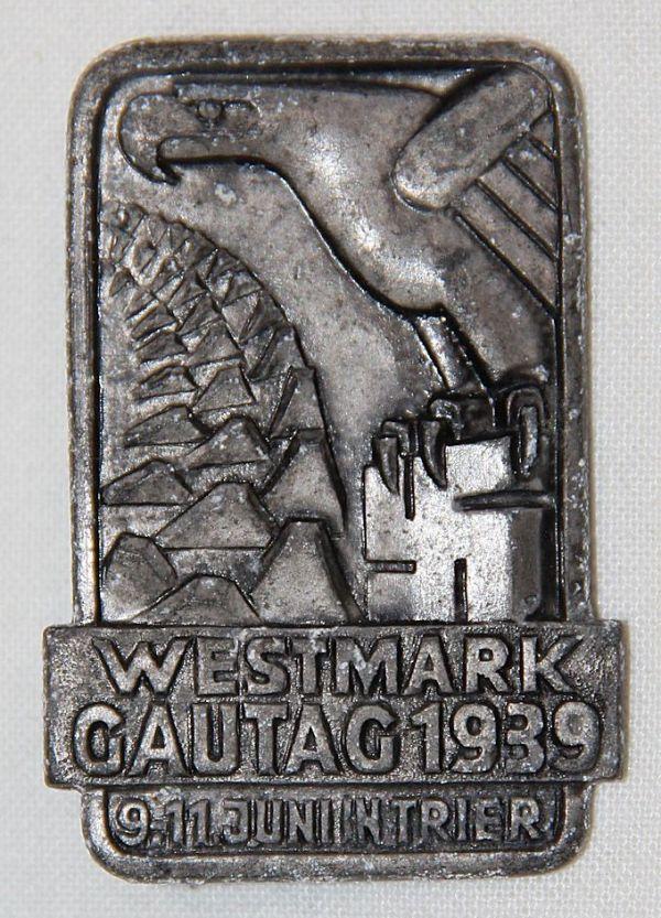 P052. WWII GERMAN 1939 WESTMARK GAUTAG TINNIE