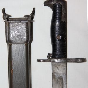 F023. WWII UNION CUTLERY M1 BAYONET AND SCABBARD