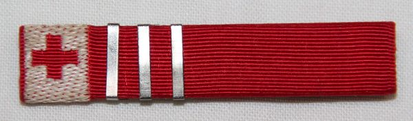 I035. WWII AMERICAN RED CROSS SERVICE RIBBON WITH 1500 VOLUNTEER HOURS