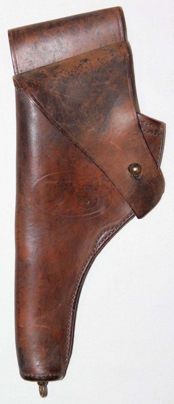 B145. WWI 1918 DATED M1917 LEATHER REVOLVER HOLSTER