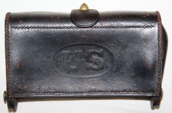 A036. INDIAN WAR ERA MCKEEVER 45-70 CARTRIDGE BOX