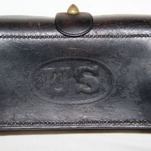 A036. INDIAN WAR ERA MCKEEVER 45-70 CARTRIDGE BOX