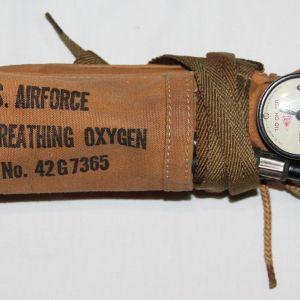 E175. COMPLETE WWII AAF BAILOUT OXYGEN BOTTLE SET