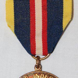 "H063. PHILIPPINE INDEPENDENCE MEDAL BY ""EL ORO"" WITH RIBBON BAR"