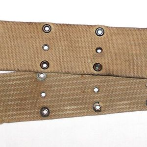 B161. WWI PISTOL BELT WITH ARTILLERY EQUIPMENT MARKING TAG