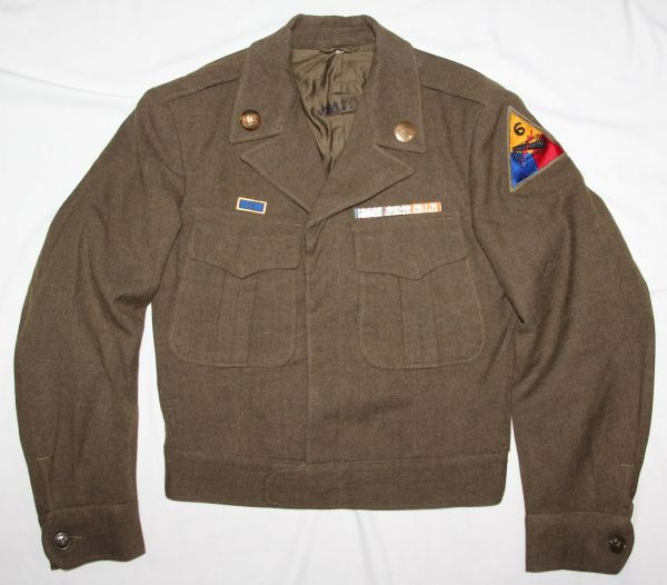 D062. WWII 6TH ARMORED DIVISION 69TH ARMORED REGIMENT IKE JACKET