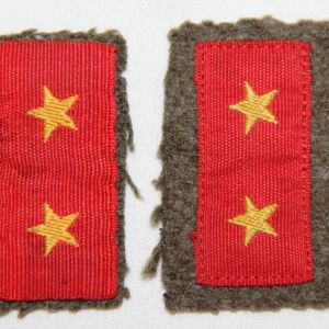 O.101. WWII JAPANESE ARMY PRIVATE FIRST CLASS COLLAR TABS