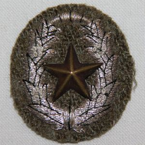 O.107. WWII JAPANESE ARMY OFFICER SCHOOL CAP STAR