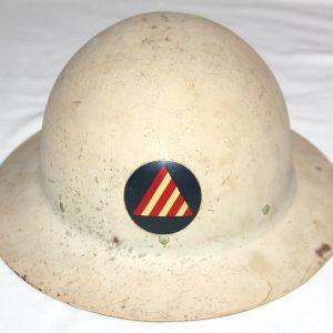 I051. WWII CIVIL DEFENSE AIR RAID WARDEN HELMET