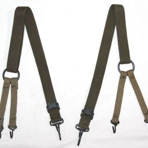 E234. WWII USMC COMBAT SUSPENDERS WITH TRANSITIONAL WEBBING