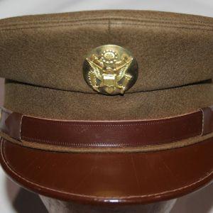 C053. NICE WWII ARMY EM VISOR CAP