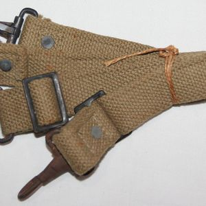 E072. 2 UNISSUED WWII MEDIC BAG SHORT CANTLE STRAPS