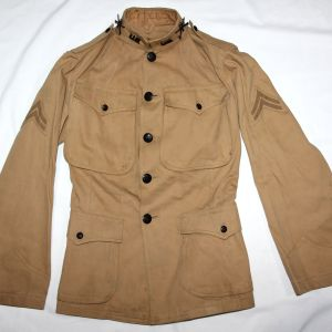 A041. RARE 1906 PATTERN US ARMY KHAKI EM UNIFORM WITH INSIGNIA