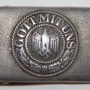 M054. WWII GERMAN ARMY BELT BUCKLE BY F.R.O