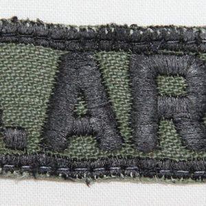 T185. VIETNAM BLACK BORDER US ARMY UNIFORM TAPE