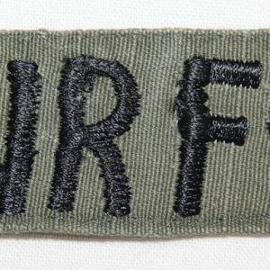 T189. VIETNAM THEATER MADE USAF UNIFORM TAPE ON RIPSTOP POPLIN