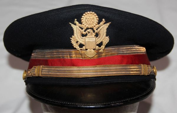 C060. PRE WWII ARTILLERY OFFICER DRESS BLUE VISOR CAP
