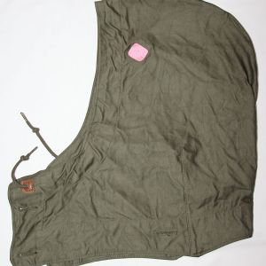 D083. UNISSUED WWII M-1943 FIELD JACKET HOOD WITH CUTTER TAG