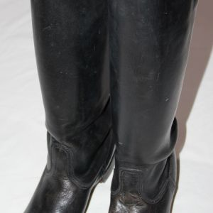 L053. NICE WWII GERMAN 1939 DATED OFFICERS LEATHER BOOTS