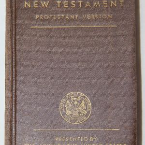 J066. WWII 1942 DATED PROTESTANT NEW TESTAMENT BIBLE