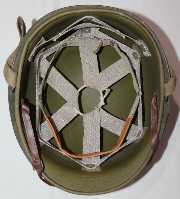 C067. RARE WWII FIXED LOOP M1 HELMET WITH GENERAL FIBRE LINER