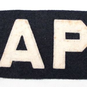 S093. KOREAN WAR USAF AIR POLICE ARMBAND BRASSARD