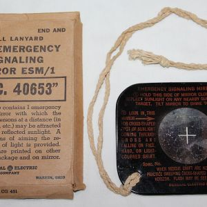 E271. WWII SURVIVAL EMERGENCY SIGNALING MIRROR ESM/1 IN THE ORIGINAL BOX