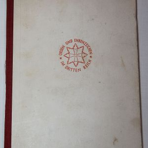 R085. WWII 1939 ORDERS AND HONOR AWARDS OF THE GREATER REICH BOOK