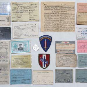 S098. COLD WAR ARTILLERY OFFICERS PAPERWORK GROUPING FROM EUROPE
