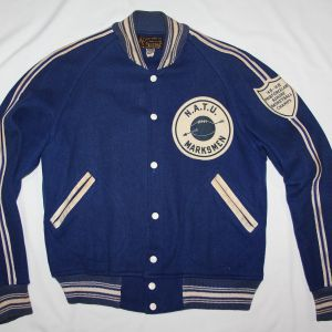 S099. NICE 1948-1949 US NAVY BASKETBALL CHAMPS LETTERMAN STYLE JACKET