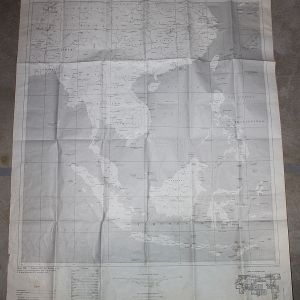 T218. LARGE 1966 US ARMY MAP WITH VIETNAM, LAOS AND CAMBODIA