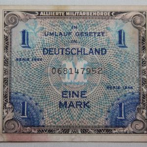 J070. WWII ALLIED MILITARY CURRENCY 1944 ONE MARK NOTE
