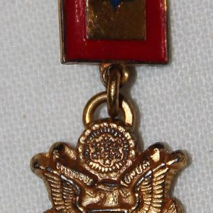 I075. WWII HOME FRONT 2 PIECE STERLING SON IN SERVICE LAPEL PIN