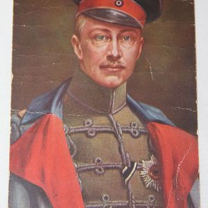 B204. WWI GERMAN FELDPOST POSTCARD OF CROWN PRINCE WILHELM