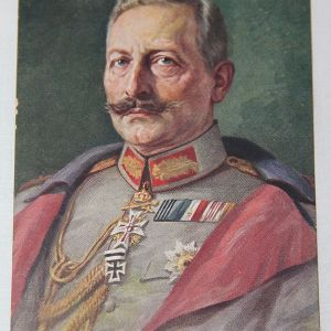 B205. WWI GERMAN FELDPOST POSTCARD OF KAISER WILHELM II