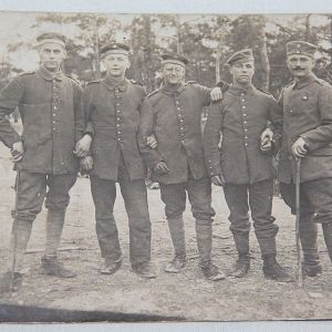 B206. WWI GERMAN FELDPOST POST CARD OF FIVE SOLDIERS