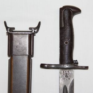 """F040. WWII AFH 1942 16"""" BAYONET WITH SCABBARD"""