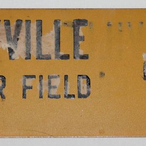I084. WWII COFFEYVILLE KANSAS ARMY AIR FIELD LICENSE PLATE