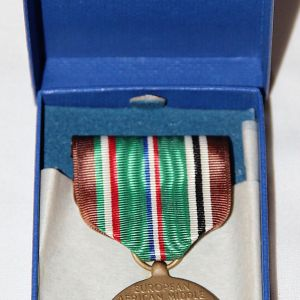 H122. WWII EAME THEATER CAMPAIGN MEDAL NEW IN BOX