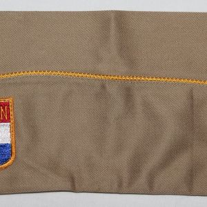 I092. WWII AMERICAN WAR DAD GARRISON CAP WITH PATCH