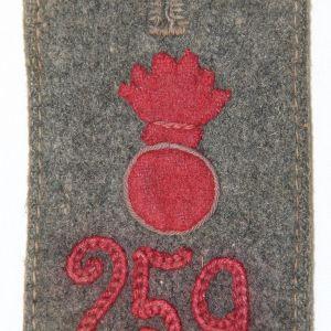 B226. WWI GERMAN 259TH ARTILLERY EM SHOULDER BOARD