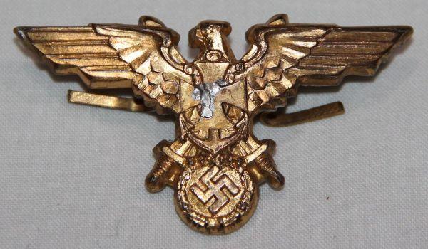 P100. WWII GERMAN NSDMB MEMBERS VISOR CAP EAGLE