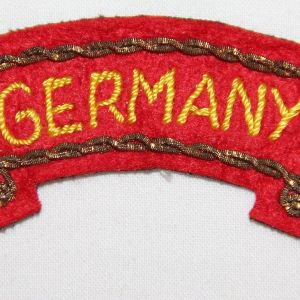 """G174. NICE WWII OCCUPATION GERMAN MADE """"GERMANY"""" SCROLL PATCH"""